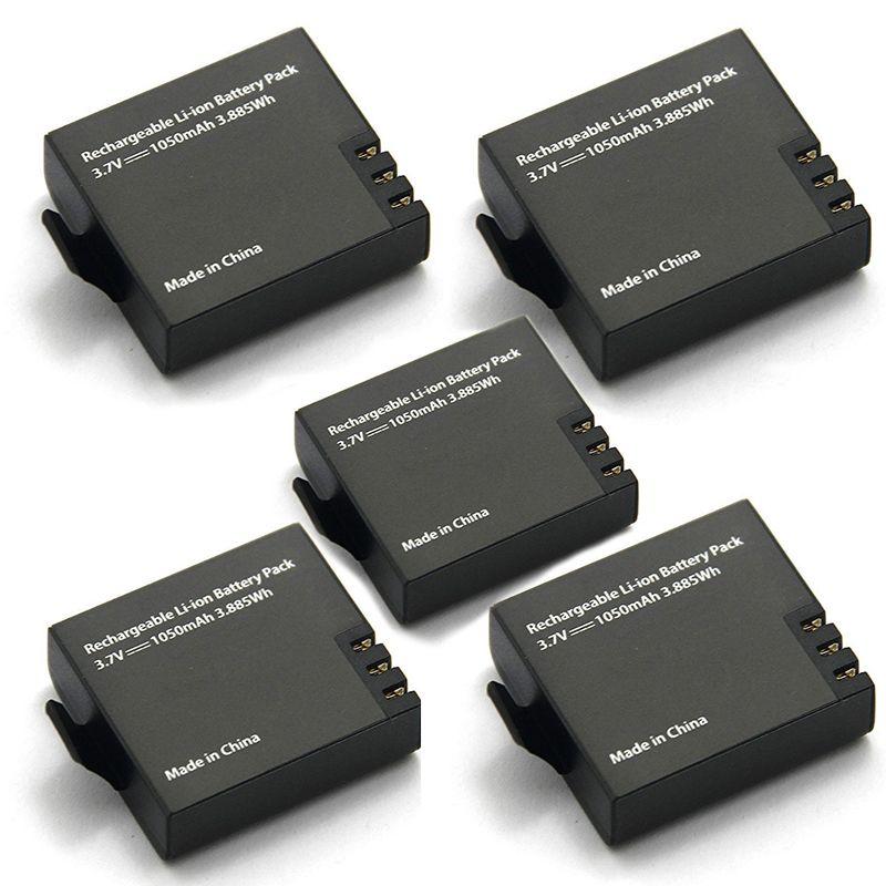 5 pièces d'origine Eken batterie 1050mah Eken Rechargeable li-ion batterie de rechange pour Eken h9 h9r h8 h8r h3 h3r Sjcam SJ4000 SJ5000X