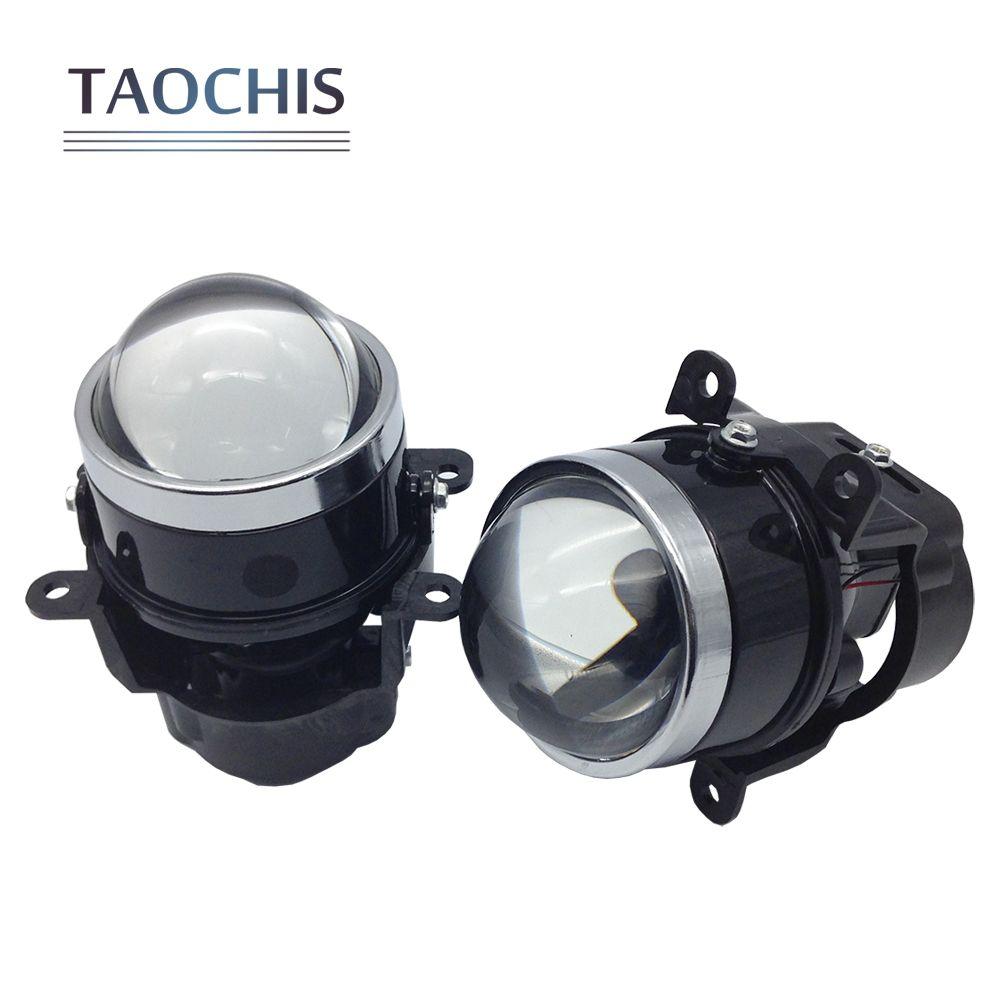 Taochis 3.0 дюймов bi xenon hid foglamp объектив проектора Туман лампа для Mitsubishi Pajero Subaru Citroen renault dacia Ford Focus