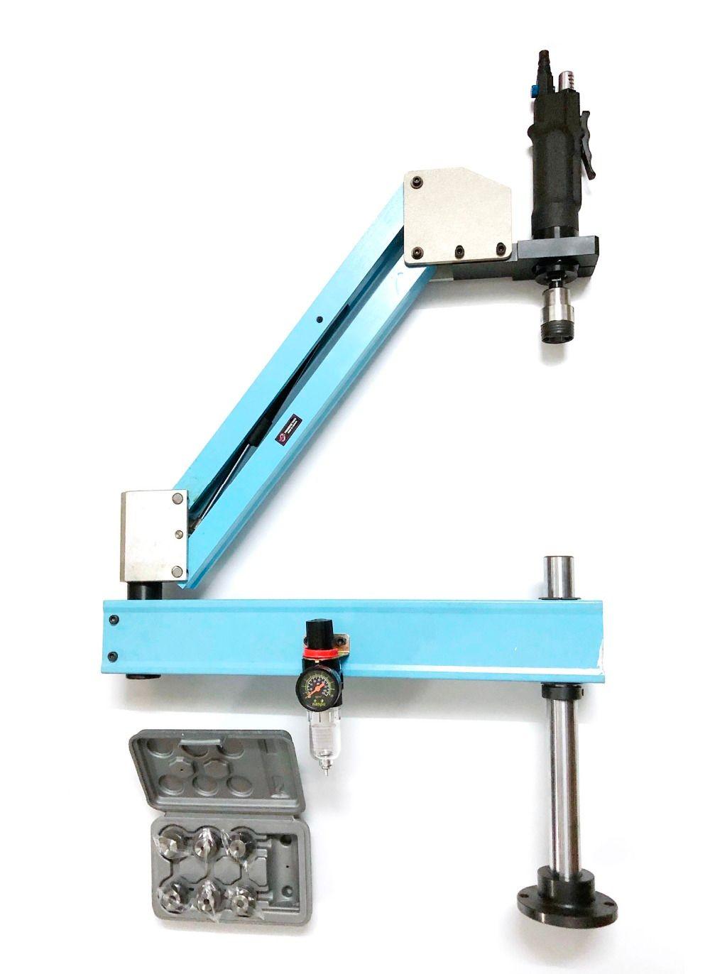 M3-M12 Vertikale Typ Pneumatische Luft Tippen Werkzeug Maschine-arbeits Wasserhähne Threading Maschine Tapping Kapazität Pneumatische Tapper Werkzeuge