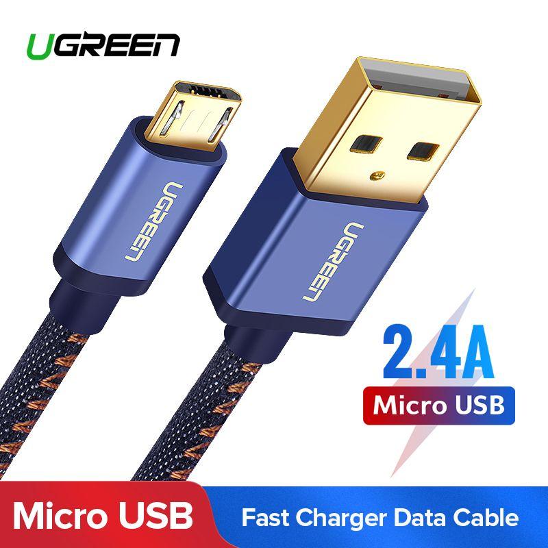 Ugreen Micro USB Ladekabel für Xiaomi Hinweis 2.4A Schnelle Ladegerät Handy USB Kabel für Samsung S7 Huawei Android USB Kabel