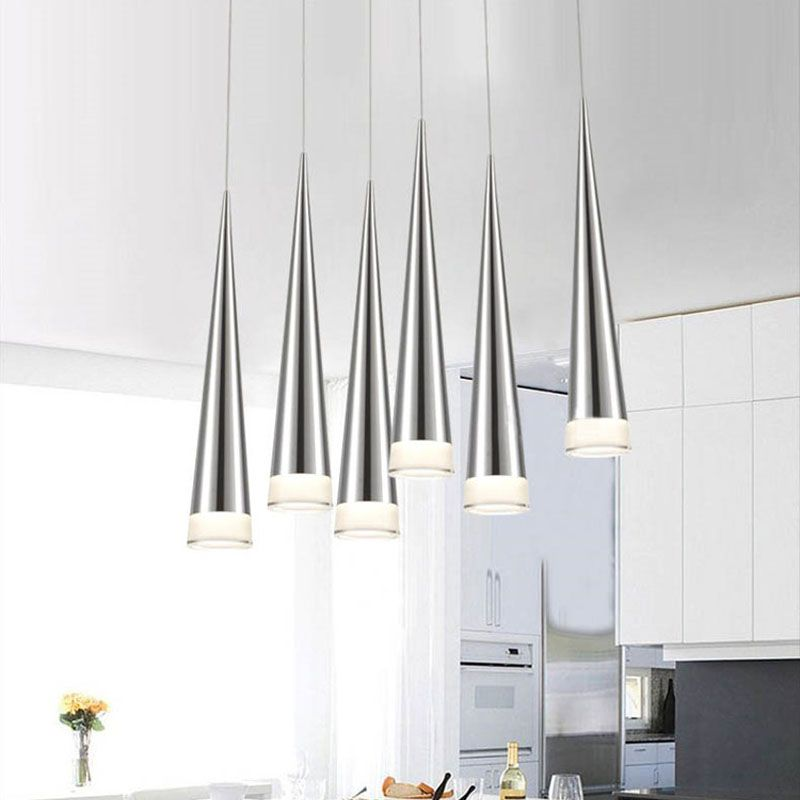 Einfache Led-pendelleuchten AC85-265V 5 Watt Moderne led Konische Pendelleuchten Aluminium Hand Beleuchtung esszimmer bar Restaurant lampe