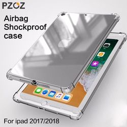 PZOZ Case For New iPad 2018 2017 9.7 inch Air 1 2 mini 1 2 3 4 Silicone Shockproof Transparent Soft Clear TPU Case For iPad mini