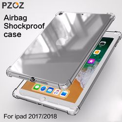 PZOZ Case For New iPad Pro 2018 2017 9.7 inch Air mini 1 2 3 4 5 Silicone Shockproof Transparent Soft TPU Case For iPad mini Bag