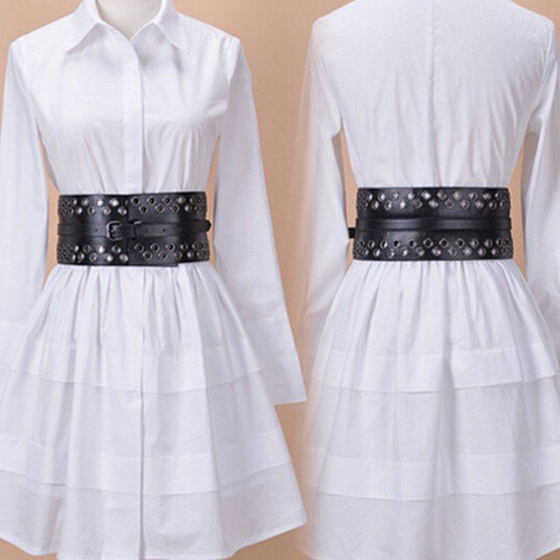 2018 Nouvelles femmes en cuir large ceinture en métal creux marque Designer vintage boucle en métal ceintures De Luxe femelle exagéré taille ceinture