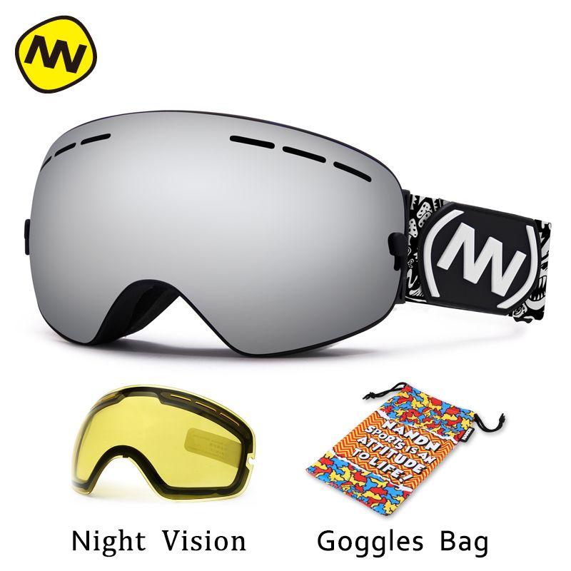 NANDN marke skibrille UV400 anti-fog big ski maske brille skifahren männer frauen schnee snowboardbrillen