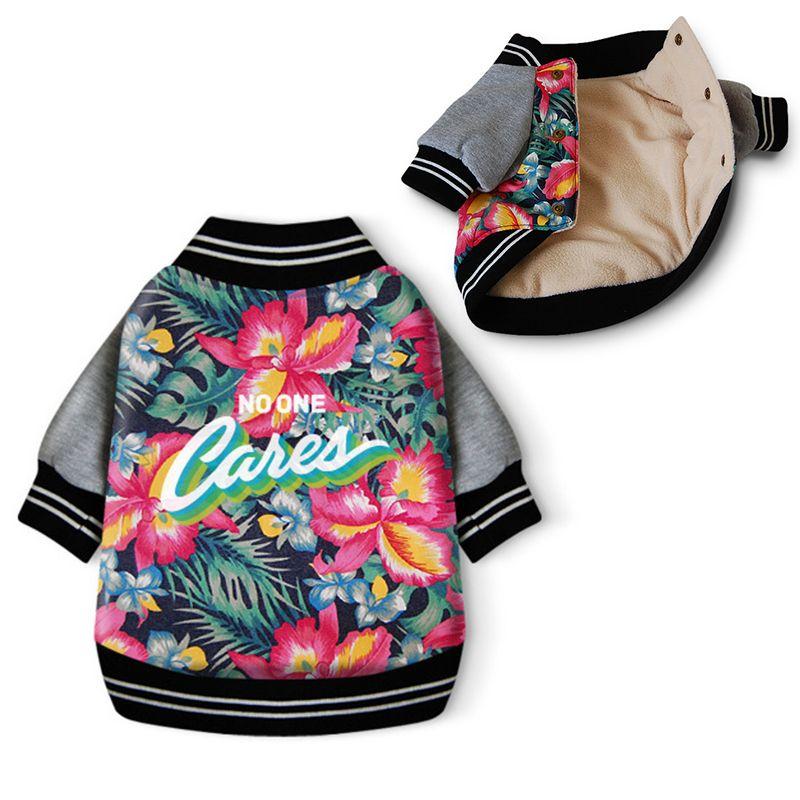 Модные Pet Одежда для собак зимняя одежда для собак куртка Aloha Hawaii собака одежда хлопковая стеганая теплая одежда принт