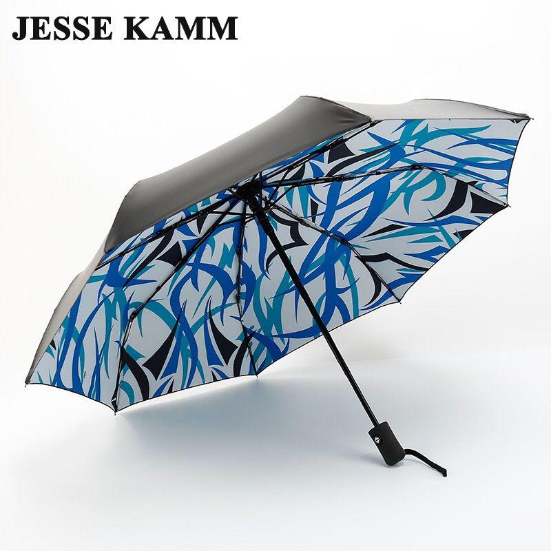 JESSE KAMM ANTI-UV pliable soleil Compact femmes femmes dames dame coupe-vent pluie mode fleur entièrement automatique ouvrir fermer parapluies