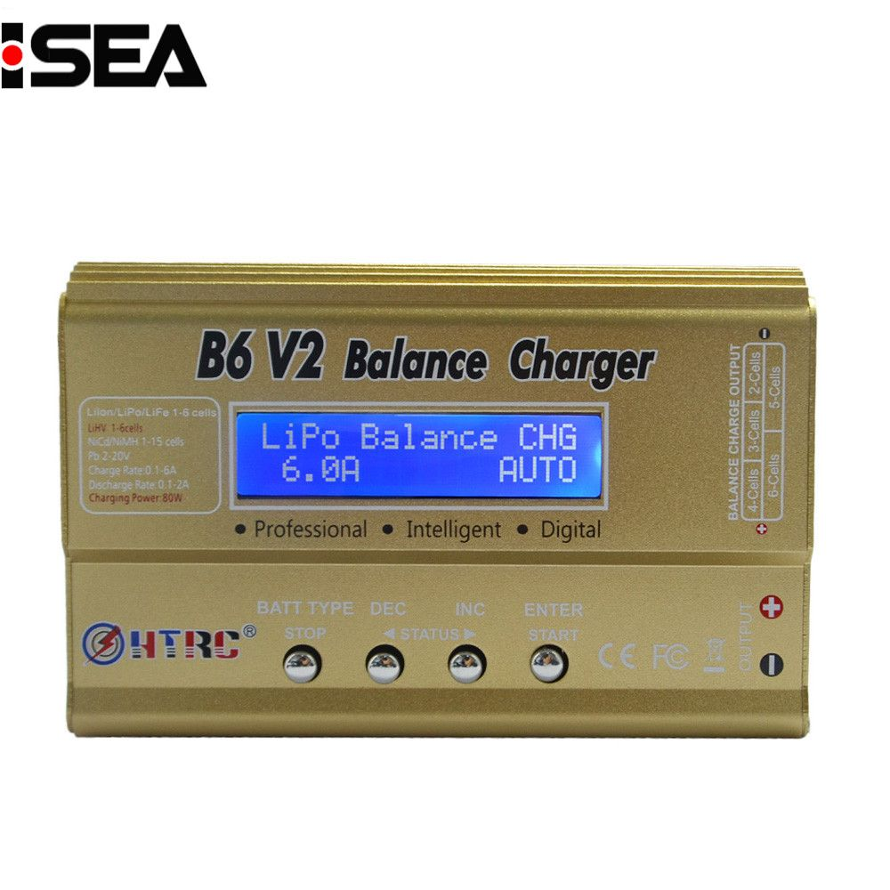 HTRC Imax B6 V2 80W Professional Digital Battery Balance Charger Discharger for LiHV LiPo LiIon LiFe NiCd NiMH PB Battery