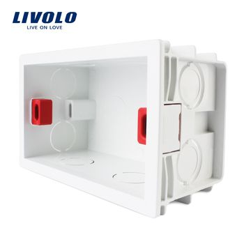Livolo Livraison Choisir, blanc En Plastique Matériaux, 101mm * 67mm NOUS Standard Interne Boîte De Montage pour 118mm * 72mm Standard Mur Interrupteur