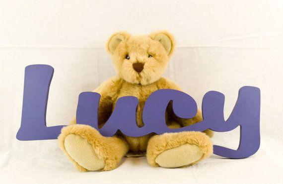 - niños nombre personalizado de madera signos niños nombre decoración de la pared, letras de madera, madera nombres, carta pared