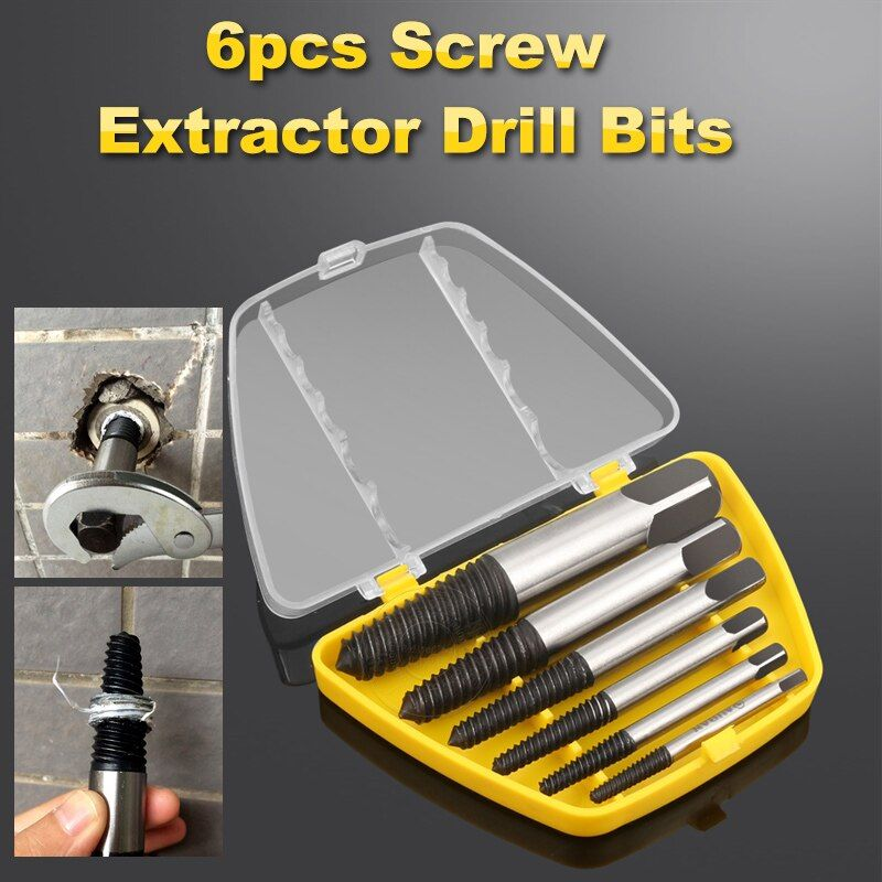 5/6PC Broken Damaged Screwdriver Extractor Set Drill Bit Alloy Steel Double Side Screw Pull Center Drill Bits Removal Tools Set
