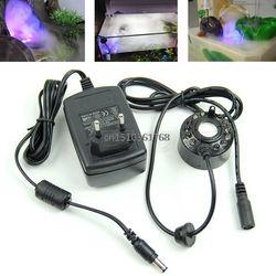 Ultrasonic12-LED Étang Mist Maker Fogger Fontaine D'eau 3-Color Lumière UE Plug # Y05 # # C05 #