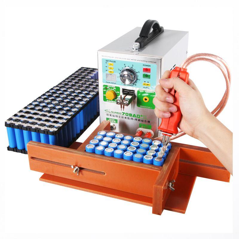 SUNKKO 709AD+ update version from 709AD 4 IN 1 Welding machine fixed pulse welding +constant temperature soldering