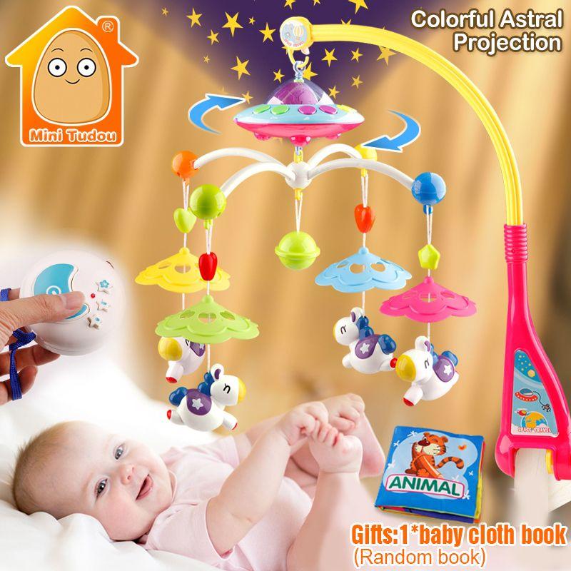 Lit bébé Jouet 0-12 Mois Pour Nouveau-Né Mobile Boîte À Musique Lit Cloche Avec Animal Hochets Apprentissage Enfants Jouets éducatifs