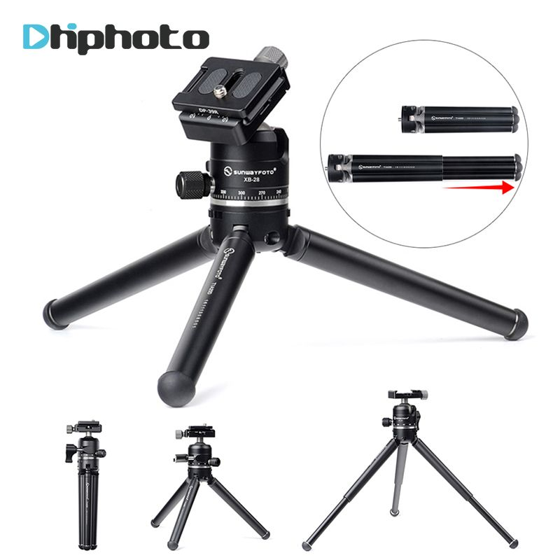 Высота-регулируемый Pod штатив Карманный, SUNWAYFOTO t1a20d-t мини настольный компактный Камера штатив с шаровой головкой для DSLR SLR Камера s