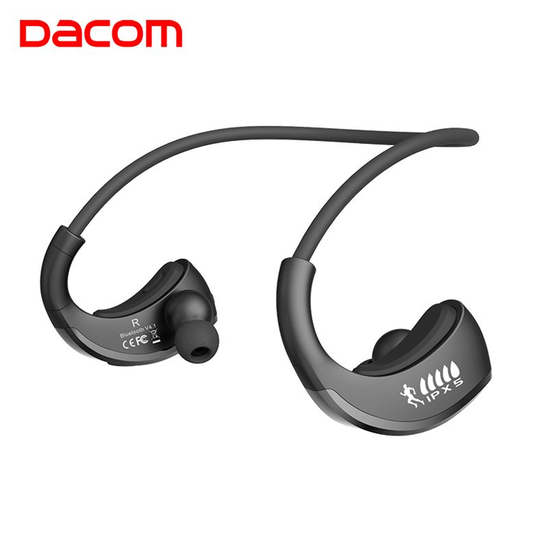 DACOM G06 L05 Music Wireless Bluetooth Earphones Headphone Super <font><b>Bass</b></font> Cordless Sport Headset with Mic for Android Phone iPhone 8