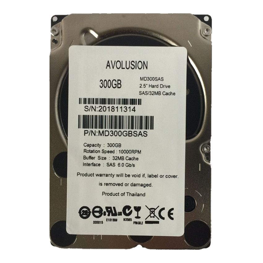300GB 10K SAS 6Gb/s 2.5inch Internal Enterprise Hard Drive Server HDD Warranty 1-year
