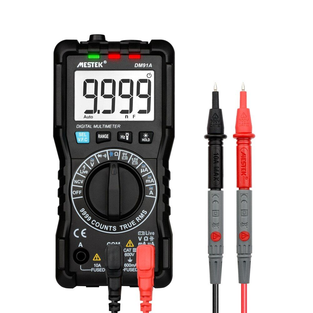 Digital Multimeter 9999 Counts DMM Multifunctional Meter True RMS Measuring AC/DC Voltage Current Resistance NCV Tester