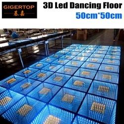 Gigertop 50 سنتيمتر * 50 سنتيمتر Led 3D حلبة الرقص مع الطابق الرقص تحكم 110 فولت-240 فولت RGB 3IN1 اللون LED مرآة الفضاء نفق الطابق