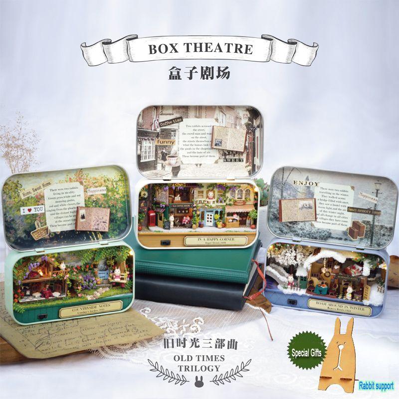 DIY Miniatura Dollhouse BOX THEATRE VIEUX FOIS TRILOGIE Jouet Maison Modèle Kits Secret Boîte Fille Garçons Cadeaux D'anniversaire Cadeau De Noël