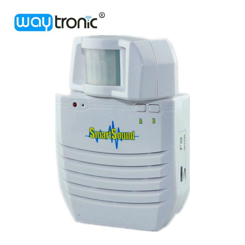 Inalámbrico PIR Detector de Movimiento Infrarrojo Del Sensor de Alarma de Audio Altavoz Alimentado Por Batería De Litio Recargable de Apoyo Tarjeta SD
