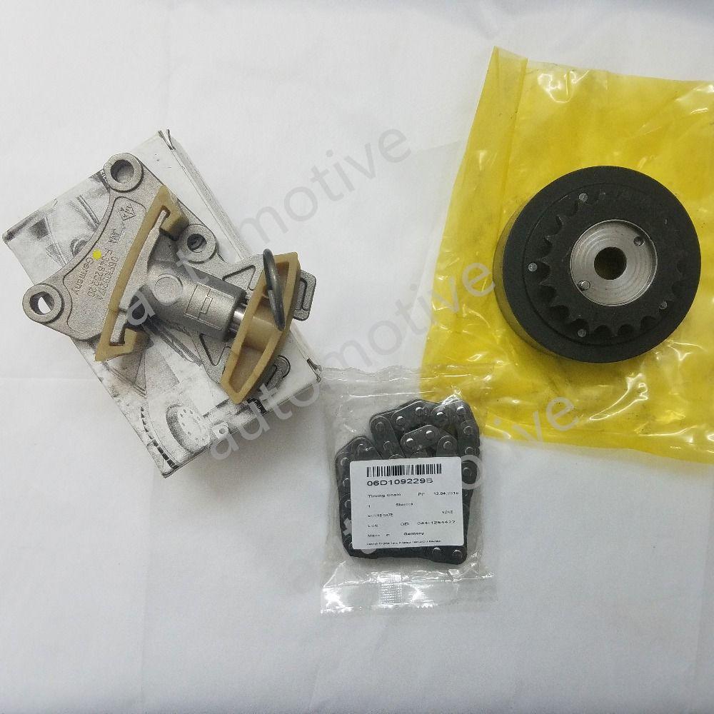 New Genuine Camshaft Adjuster Unit +Timing Chain +Tensioner Fit VW Eos Jetta Passat 2.0L 06F109088J 06F109217A 06D109229B