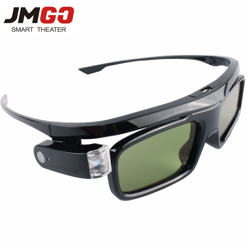 Universal 3D Active Shutter Glasses DLP Link 3D Glasses with battery Rechargeable For XGIMI JmGO DLP 3D Emitter Projector
