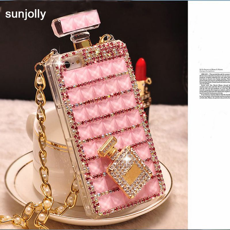 Luxe 3D Diamant TPU Strass Bling Cover Bouteille Diamante Funda Coque Capa pour iPhone X XS MAX XR 6 /6 s 8/7 Plus 5S SE 5C