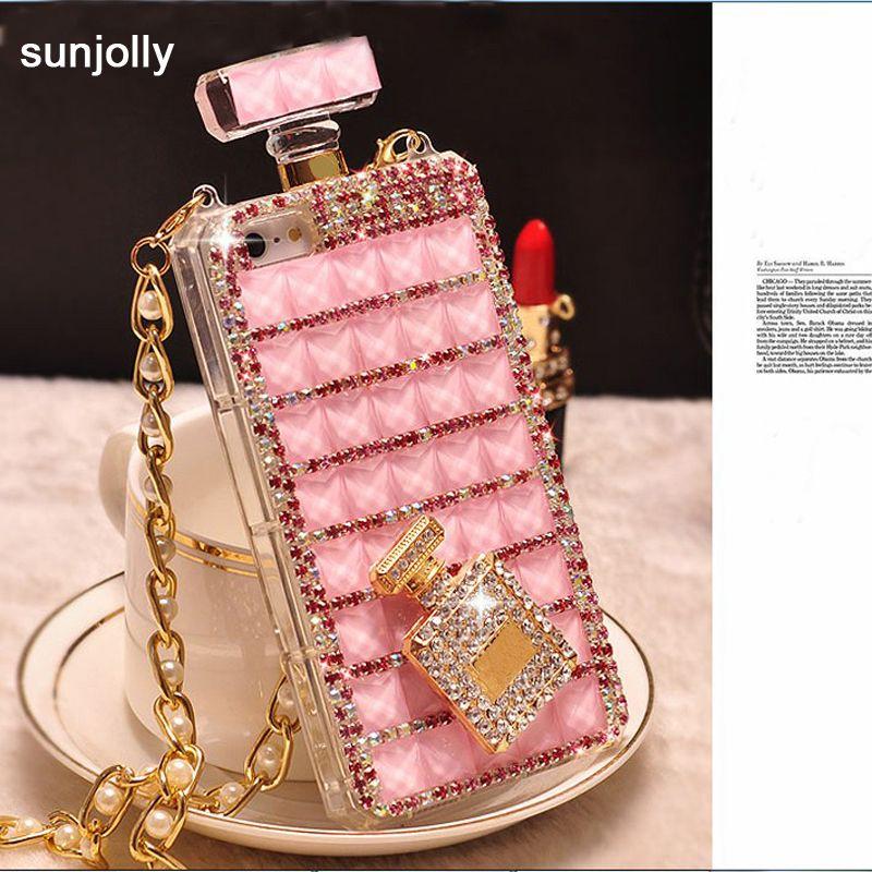 Luxe 3D Coque en diamant TPU strass Bling couverture bouteille Diamante Funda Coque Capa pour iPhone X XS MAX XR 6/6 s 8/7 Plus 5 S SE 5C