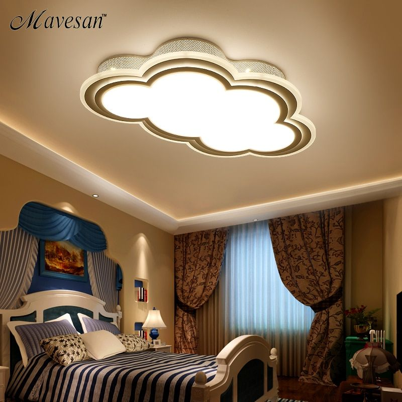 New Kids ceiling led light for bedroom remote control cloud type ceiling mounted luminaire Light Fixtures for 8-20 square meters