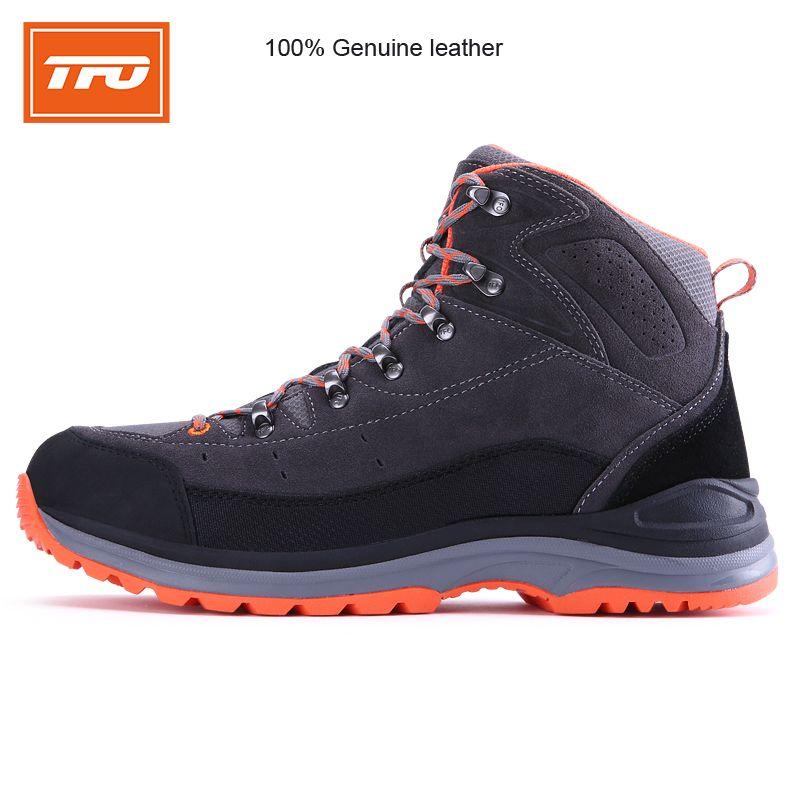 TFO мужчин Пеший Туризм обувь загрузки 100% натуральная кожа Открытый Спортивные кроссовки Восхождение на горы Водонепроницаемый Потепления ...