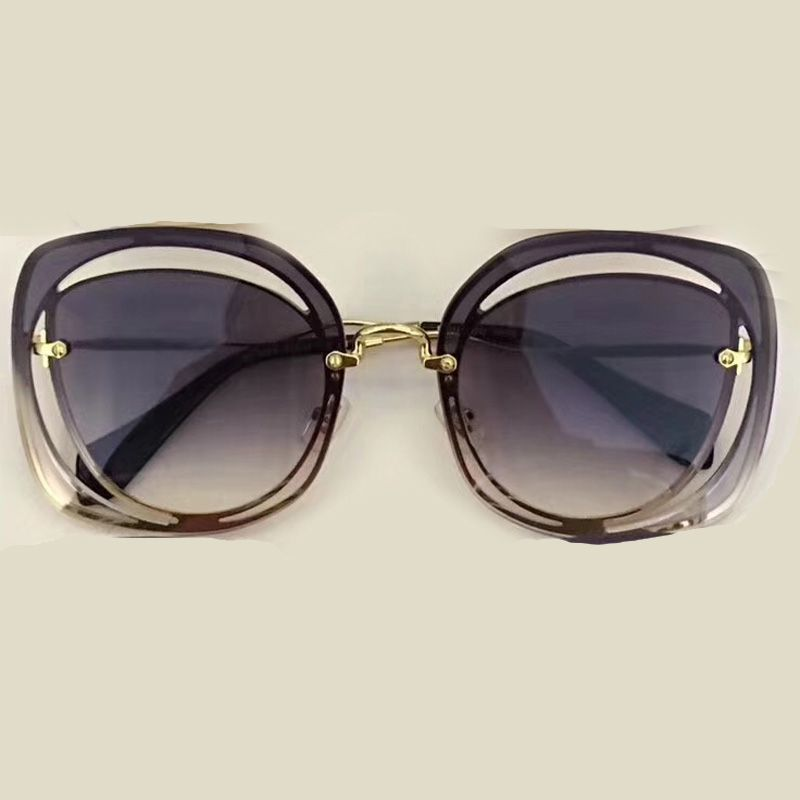 Rimless Square Sunglasses Women Brand Designer High Quality with Packing Box Vintage Fashion Eyewear Oculos De Sol Feminino
