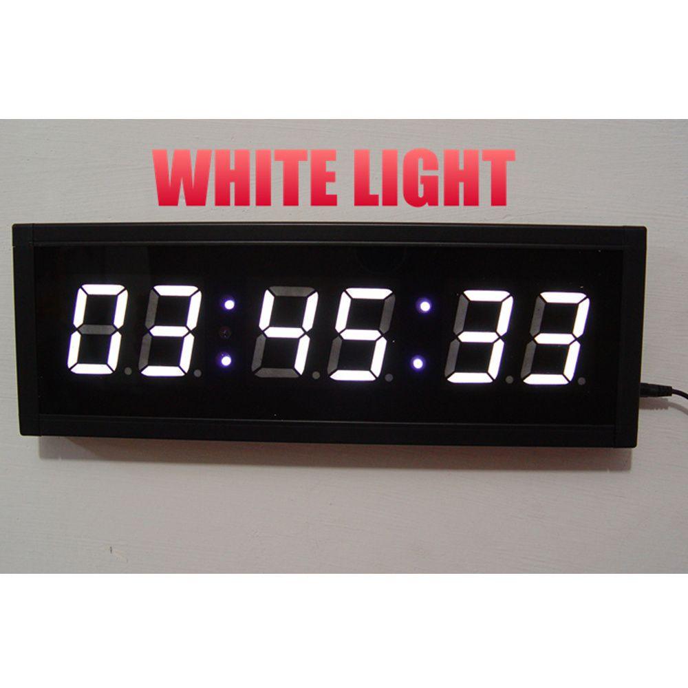 Large Remote 3D LED Digital Wall Clock Modern Design Home Decor Hallway Living Room Decoration Big Watch COUNTDOWN TIMER Green