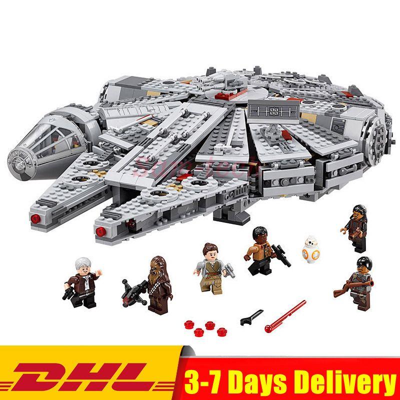 MOC Legoingly 10467 LEPIN 05007 Star Series War 1381pcs Millennium Falcon Toys Building Blocks Bricks Toys