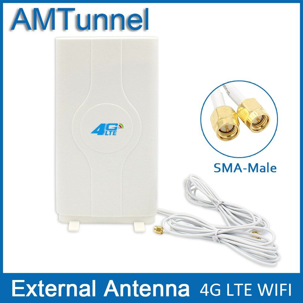 3G 4G LTE  antenna  Mobile antenna 2-SMA-male Connector Booster mimo Panel Antenna with 2 meters Cable  700~2600Mhz 88dBi