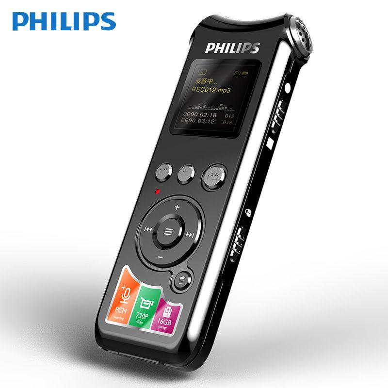 Philips VTR8010 Kamera Digital Voice Recorder Professionelle HIFI 720 P Klare Stimme Abstand Foto 16 GB TF Diktiergerät