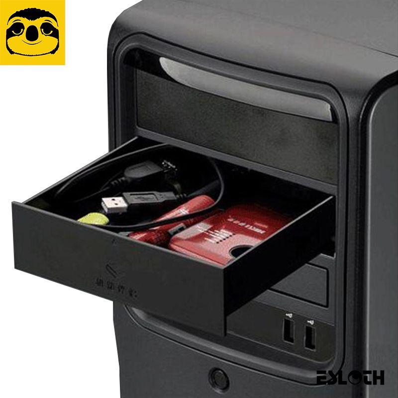 Nouveau noir 523 disquettes 5.25 pouces coque métallique châssis d'ordinateur lecteur cd-rom tiroir boîte de rangement armoire Cigarette boîte de rangement