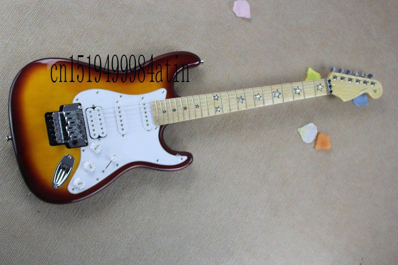 Free shipping new ST scalloped big headstock stratocaster electric guitar @4