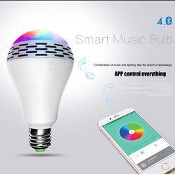 [Genuine]Tonbux Smart Wireless Bluetooth Speaker LED RGB Light Bulb Music Player APP Remote Control Mini Speakers Terminal