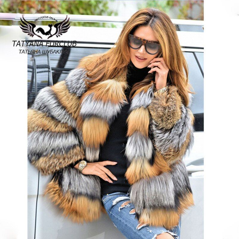 Tatyana Furclub Luxury Fox Fur Coat,100% Real Value Natural Fox Coat,Winter Fur Coat Natural Fur,Women's Fur Coat Female Jacket