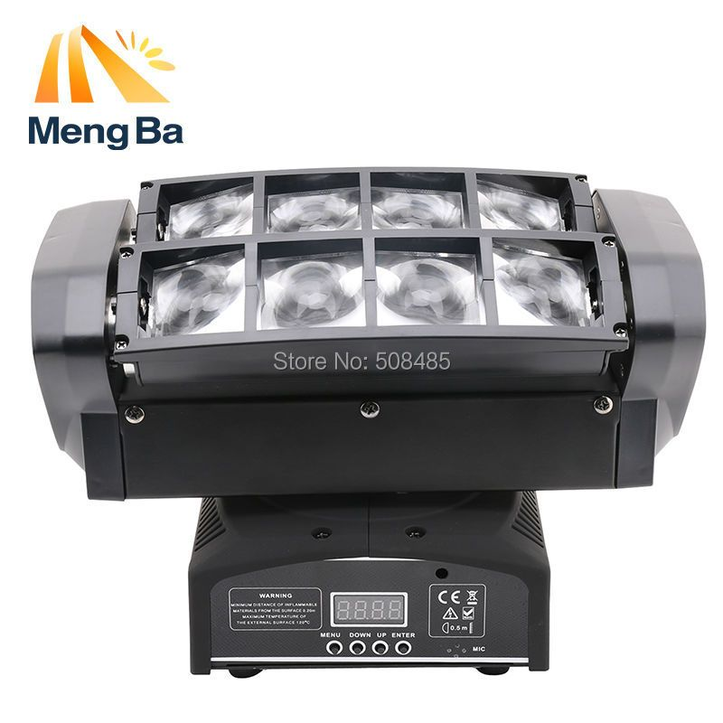 Free shipping LED 8*10w RGBW CREE Beam Light 8 Eyes Mini Spider Light DMX512 Moving Head Light DJ/Fest/Home / Bar /Stage /Party