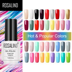ROSALIND Gel Nail Polish Hybrid Varnishes Semi Permanent Nail Polish Vernis UV Color All For Manicured Gel Lak Top Base Primer