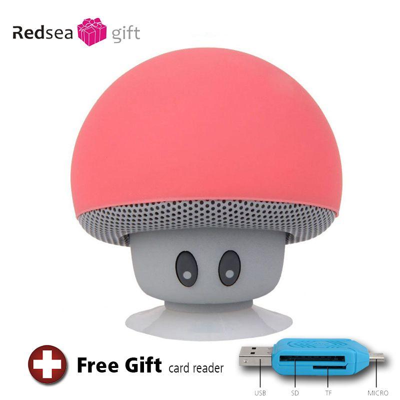 Наиболее популярные мини-портативный гриб bluetooth-динамик водонепроницаемый Душ сабвуфер музыка беспроводной динамик для мобильного телефо...