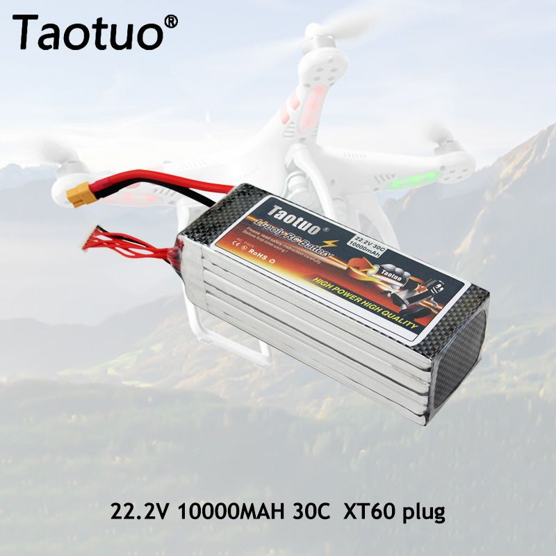 Taotuo Power Li-polymer Lipo Batterie 22,2 v 10000 mah 30C 6 S XT60 Stecker Für RC Hubschrauber Quadcopter FPV Eders Bateria