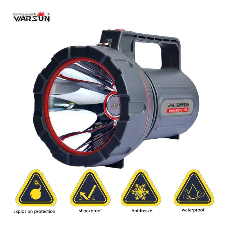 Warasu 100 W de Alta Potencia Impermeable Recargable proyector handheld de la caza Que Acampa pesca linterna Portátil LED Luz de La Búsqueda