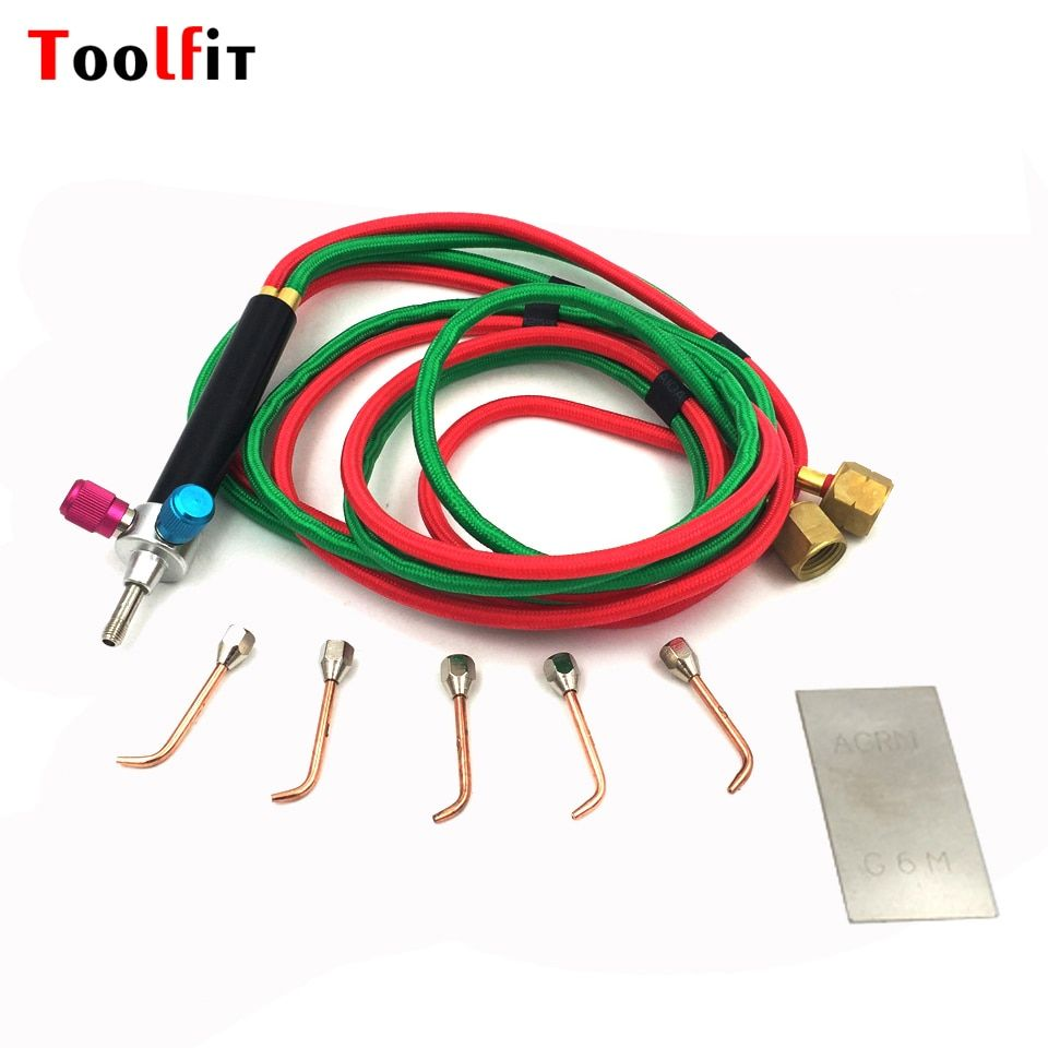 Mini Smith Torch With 5 Tips Soldering Equipment Gold Welding Torch Gas Torch Flame Welding Tools +1pc Soldering Blade