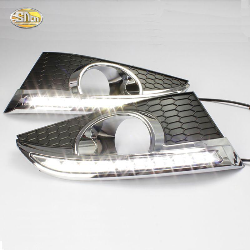SNCN LED DRL for Chevrolet Captiva 2012 2013 Daytime Running Light fog light cover,Car styling accesories