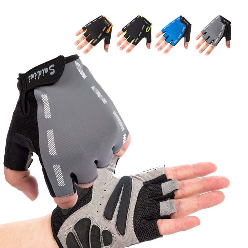 1 Pair Breathable Half Finger Weightlifting Gloves For Gym Training Exercise Workout Slip-Resistant Sports Weight Lifting Gloves