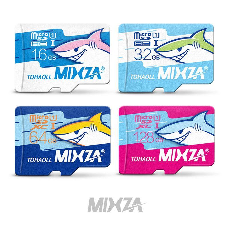 MIXZA Shark edition memory card UHS-1 16GB 32GB 64GB 128GB micro sd card class10 flash card Memory microsd for smartphone