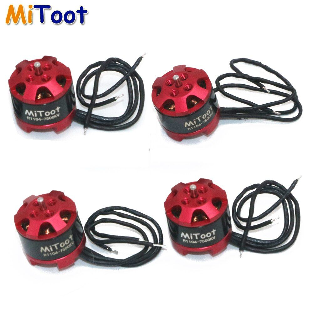 4pcs/lot Mitoot R1104 7500KV Brushless Motor for 2030 3020 Propeller RC Racing Racer Drone Quadcopter
